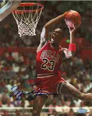 Michael Jordan Steiner signed photograph