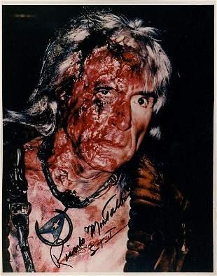 Ricardo Montalban KHAN Star Trek signed photograph