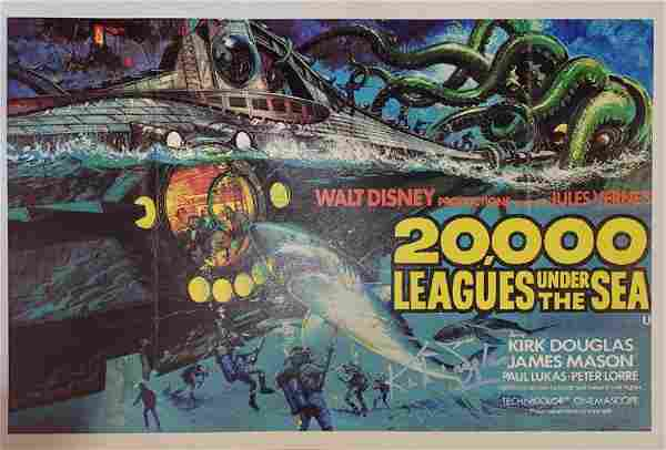 20,000 Leagues Under the Sea poster signed