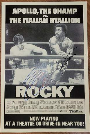 Rocky poster signed