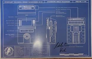 Stat Trek Tricorder blueprint signed