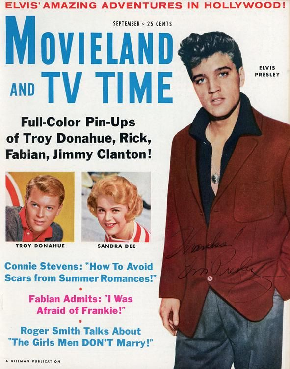 Elvis Presley signed magazine