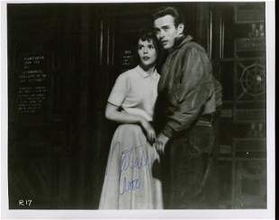Natalie Wood Rebel Without a Cause signed photograph
