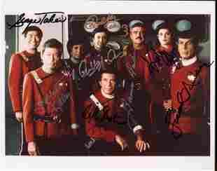 Star Trek movie cast signed photograph