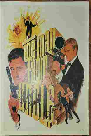 The Man form UNCLE poster signed