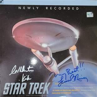 Star Trek LP signed