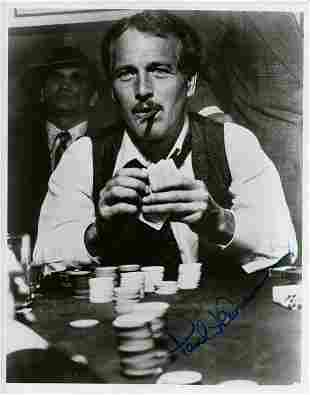 Paul Newman STING signed photograph