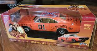 Dukes of Hazzard cast signed die cast General Lee