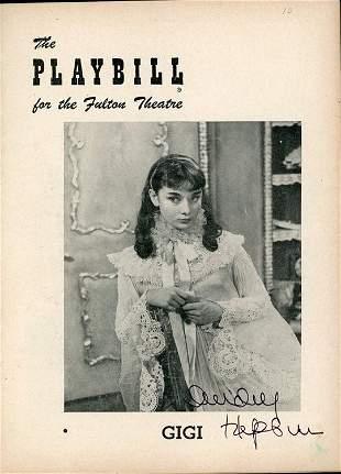 Audrey Hepburn signed playbill