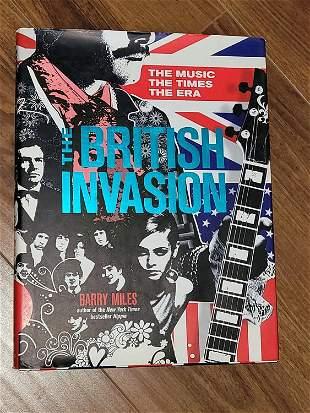 British Invasion signed book by music stars