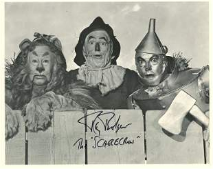 Ray Bolger the Scarecrow signed Oz photograph