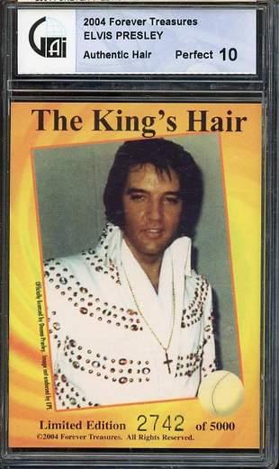 Elvis Presley documented strand of hair
