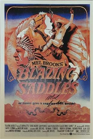 Blazing Saddles Mel Brooks signed poster