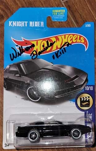Knight Rider Hot Wheels car signed