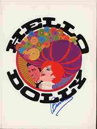 Barbra Streisand Hello Dolly signed program