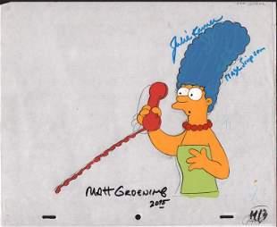 Simpsons signed original animation cel