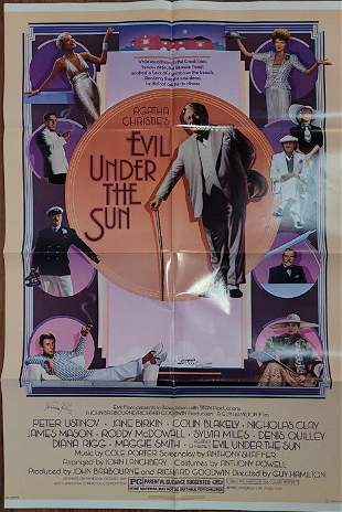 Evil Under the Sun movie poster signed