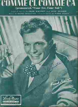 Frank Sinatra signed sheet music