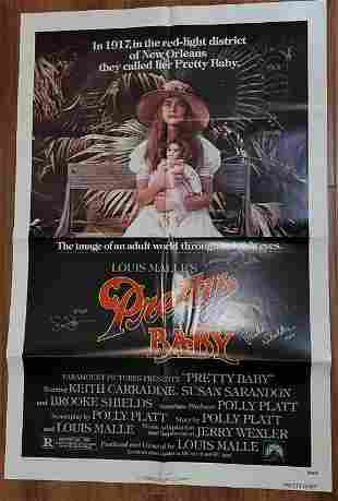 Pretty Baby poster signed