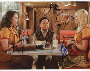 Two Broke Girls cast signed photograph