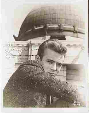 James Dean signed photograph