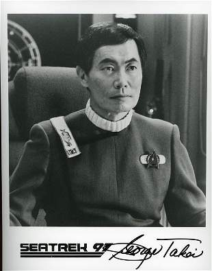 George Takei signed photograph