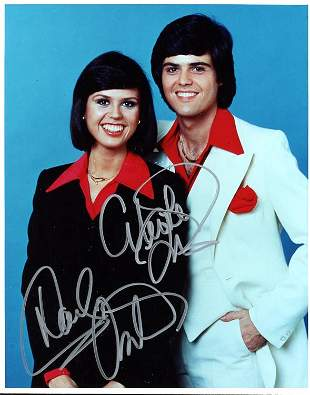 Donny and Marie Osmond signed photograph
