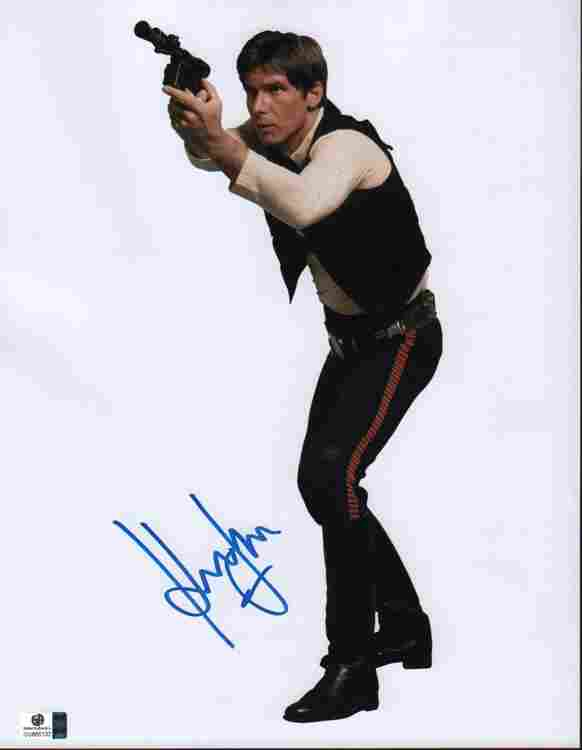 Harrison Ford as Han Solo Star Wars signed photograph