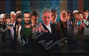 DR WHO print signed by many doctors