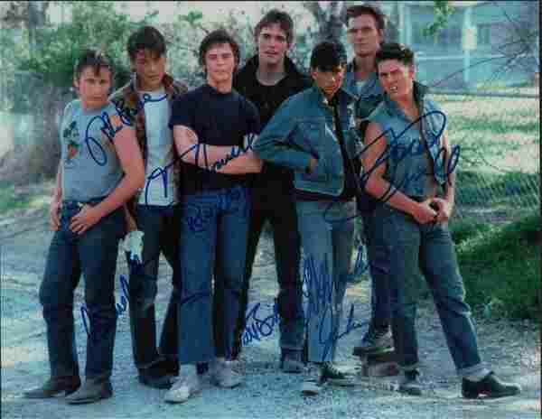 The Outsiders cast signed photograph
