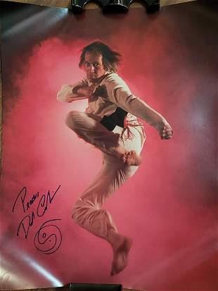 David Carradine Kung Fu signed poster