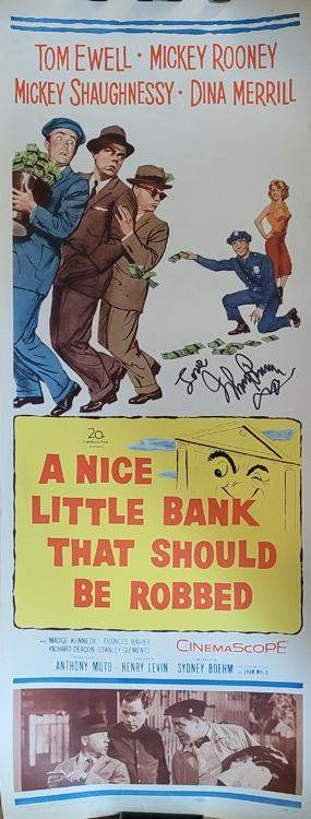 Mickey Rooney poster insert signed