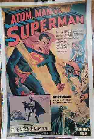 Atom Man vs Superman poster signed