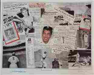 Joe Dimaggio limited lithograph signed