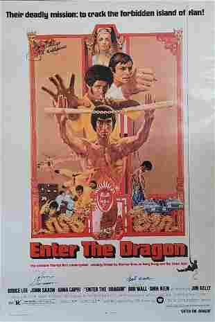 Enter the Dragon poster signed by cast