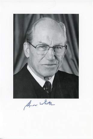 Byron White signed photo
