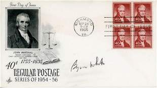 Byron White signed FDC