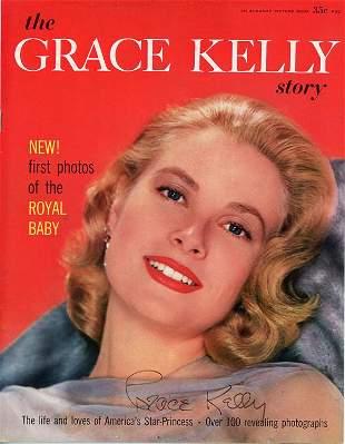 Grace Kelly signed magazine