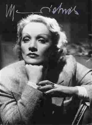 Marlene Dietrich 11x14 signed photo