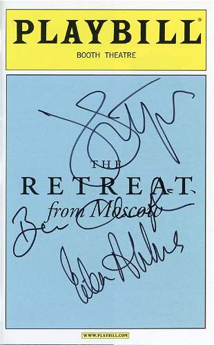 John Lithgow and cast signed Playbill