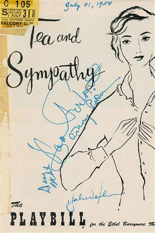 Anthony Perkins and cast signed Playbill