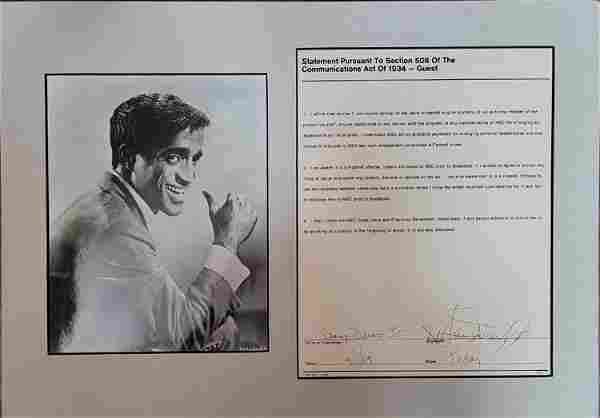 Sammy Davis Jr contract signed
