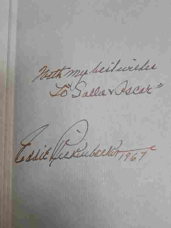 Eddie Rickenbacker book signed