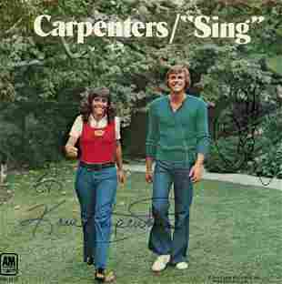 Carpenters signed 45 rpm sleeve