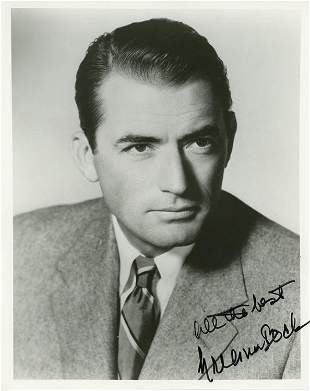Gregory Peck signed photograph