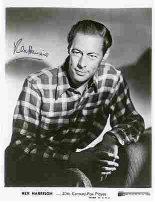 Rex Harrison signed photograph