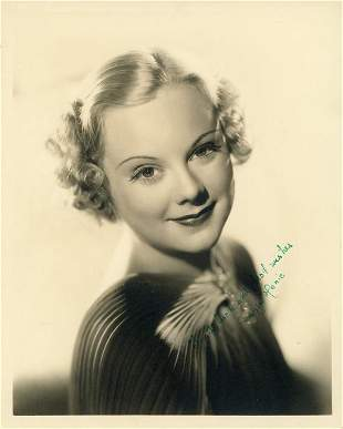 Sonja Henie signed photograph