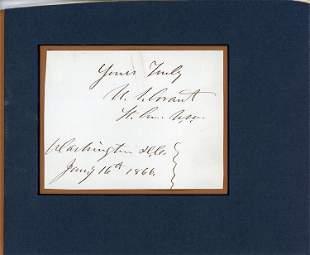 U.S. Grant signed document fragment