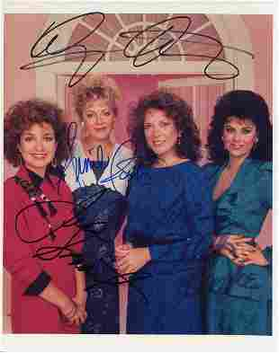 Designing Women cast signed photograph