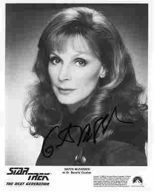 Gates McFadden Star Trek signed photo